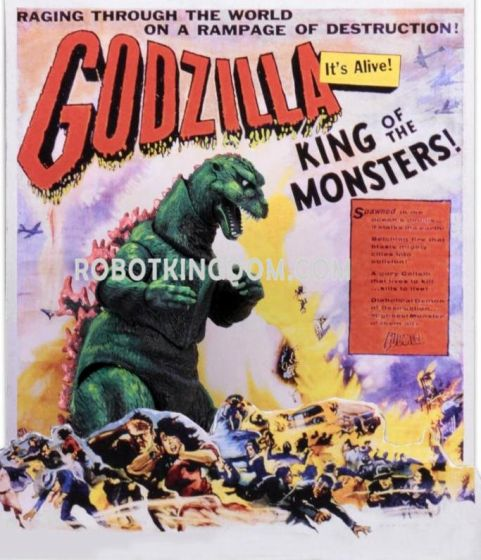 "NECA Godzilla - 12"" Head to Tail Action Figure - 1956 Movie Poster Godzilla. Preorder. Available in 2nd Quarter 2019."