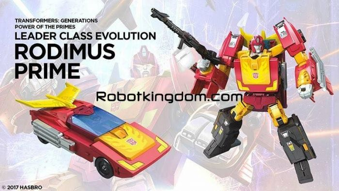 Generations 2018 Power of the Prime LEADER Rodimus. Available now.