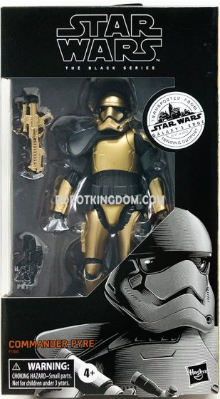 "Exclusive Star Wars The Black Series 6""Commander Pyre. Available Now!"