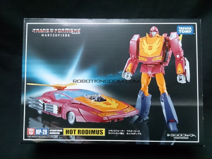 Takara Transformers Masterpiece MP-28 Hot Rodimus with exclusive coins. Available Now!