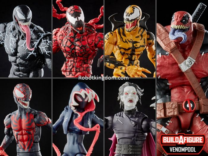 Marvel  Legends Venom Wave 2 Set of 8. ( GHOST SPIDER, MILES MORALES, Venom, Morbius, Carnage and Phage). Available Now!
