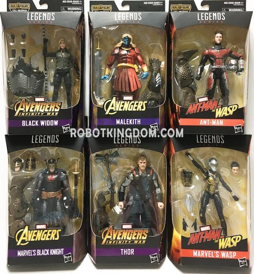 """Marvel Legends Avengers Infinity War 6"""" Wave 2 Case of 8. Available Now!"""