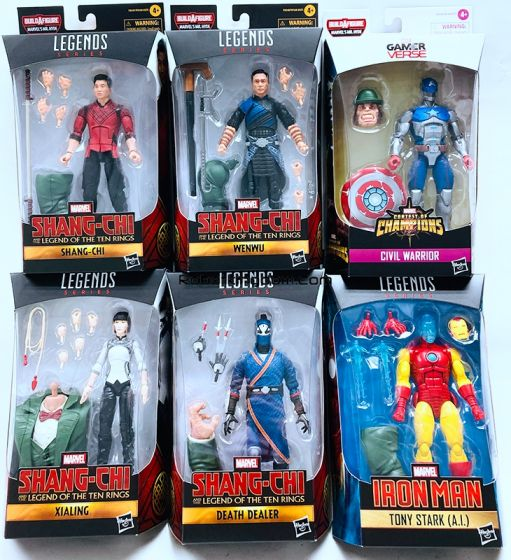"""Hasbro Marvel Legends 6"""" Shang-Chi Case of 8 ((Shang Chi, Wenwu, Xialing, Death Dealer, Civil Warrior, Tony Stark (A.I.))). Available Now!"""
