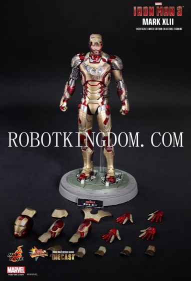 Hottoys Iron man 3 Movie Masterpiece MMS197 Diecast 1/6 Iron Man Mark XLII. Last Few Pcs! Shipping Included!