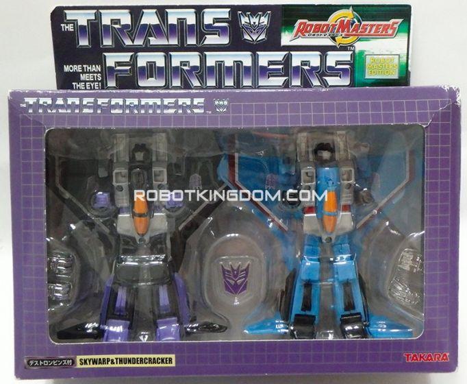 Takara Transformers Robot Masters Edition Skywarp and Thundercracker C8.5 Box. Warehouse Found.