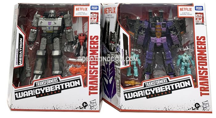 Exclusives Transformers Netflix Siege of Cybertron Battlefield Case of 2 (MEGATRON,HOTLINK). Available Now!