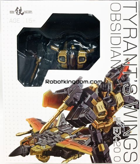 Iron Factory IF-EX20O Tyrant's Wing OBSIDIAN. Available Now!