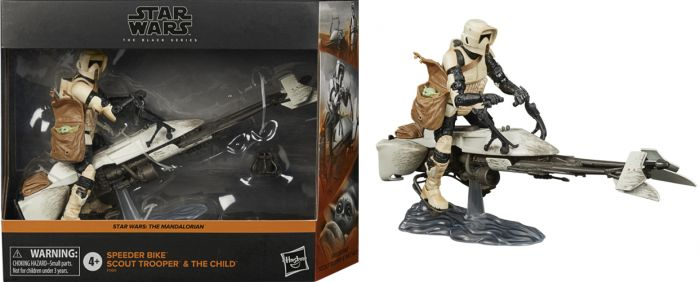 """HASBRO STAR WARS THE BLACK SERIES (THE MANDALORIAN) 6"""" SPEEDER BIKE SCOUT. Preorder. Available in 1st January 2021."""