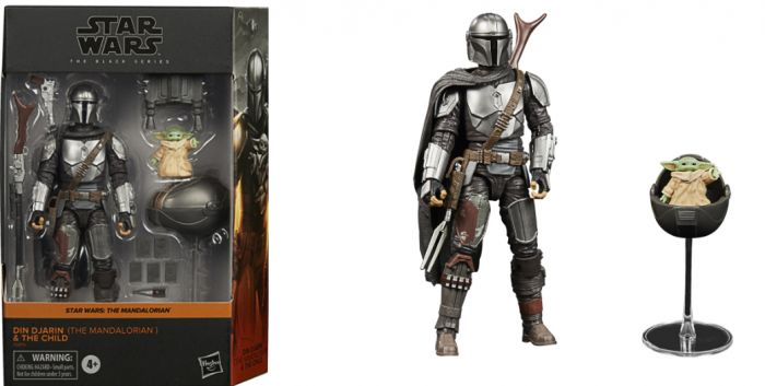 """STAR WARS THE BLACK SERIES 6"""" DIN DJARIN (THE MANDALORIAN) AND THE CHILD (Baby Yoda Grogu). Preorder. Available in December 2020."""