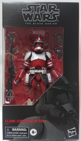 "Star Wars exclusives Black Series 6"" Clone Commander Fox."