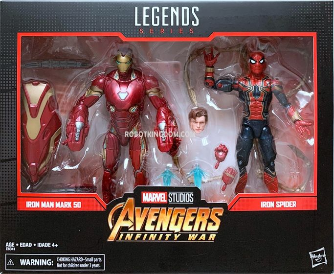 "Marvel Legends 80th Anniversary 6"" Movie Spiderman and Ironman 2 Pack. Available NOW!"