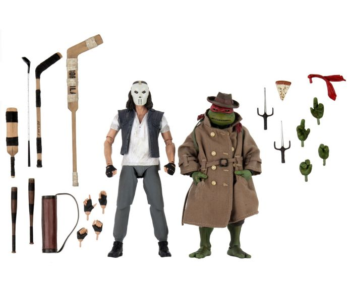"Neca Teenage Mutant Ninja Turtles (1990 Movie) - 7"" Scale Action Figure - Casey Jones & Raphael in Disguise 2 Pack. Preorder. Available in July 2020."
