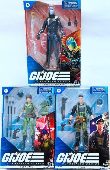 G.I. Joe Classified Series Figures Wave 6 set of 3 (Cobra Commander, Lady Jaye, Flint). Available Now!