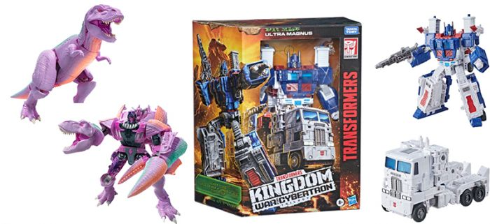 Transformers Generations Kingdom Leader Wave 2 Case of 2. (TREX MEGATRON and ULTRA MAGNUS EARTH). Preorder. Available in May 2021.