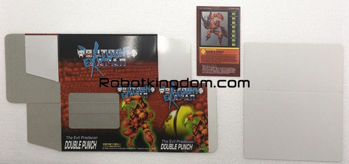Transformers Botcon Japan Exclusive 1998 - DOUBLE PUNCH. Available Now!