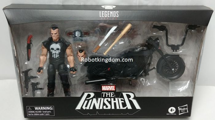 "Marvel Legends Ultimate 6"" The Punisher with Motorcycle. Available Now."