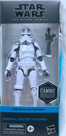 """HASBRO STAR WARS BATTLEFRONT II THE BLACK SERIES 6""""GAMING GREATS IMPERIAL ROCKET TROOPER. Available Now!"""