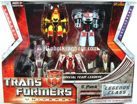 Hasbro Transformers Universe 2008 Legends Special Team Leaders 5-pack. Available Now!