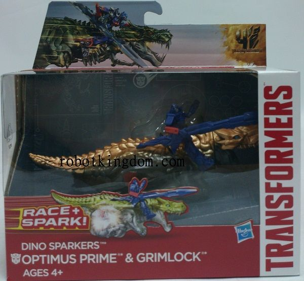 Movie 4 Dino Sparkers - Optimus Prime & Grimlock.