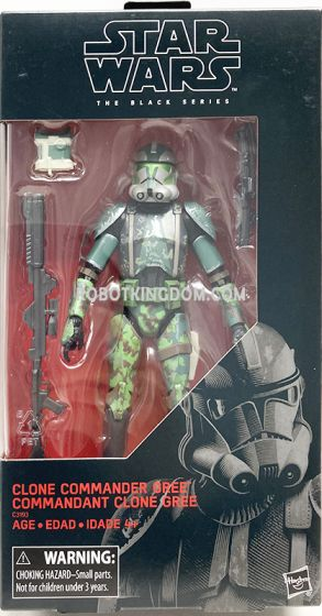 """Exclusive Star Wars The Black Series 6"""" Commander Gree Action Figure. Available Now!"""