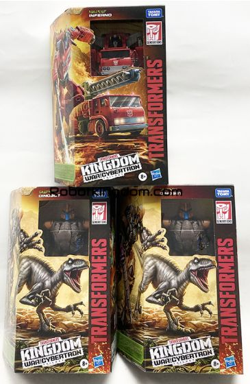 Transformers Generations Kingdom Voyager Wave 2 Case of 3 (DINOBOT and INFERNO). Available Now!