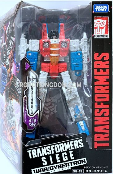 Takara Transformers Siege SG-19 Starscream. Available Now!