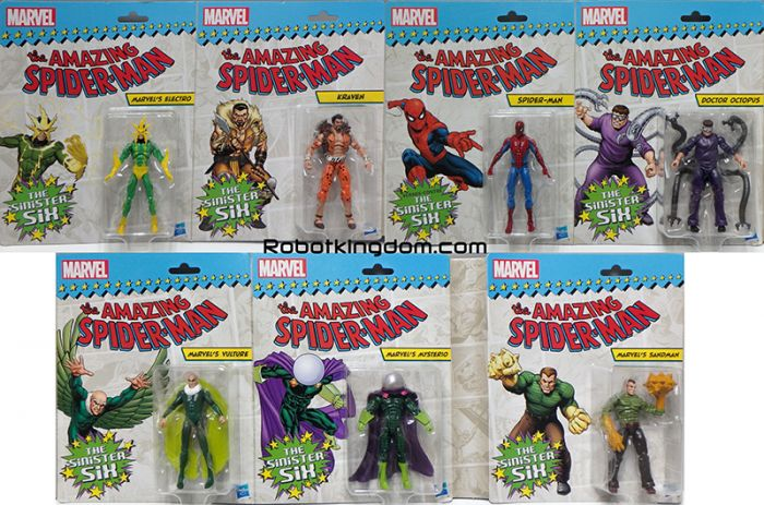 "Amazon Exclusive Marvel 3.75"" Spiderman VS Original Sinister 6. Available Now!"