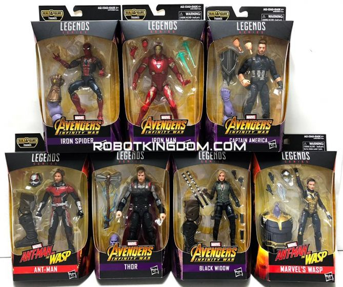 "Marvel Legends 6"" Best of Avenger 2019 Case of 8 (WASP, ANT MAN, THOR, SPIDERMAN, BLACK WIDOW , IRON MAN, CAPTAIN AMERICA). Available Now!"