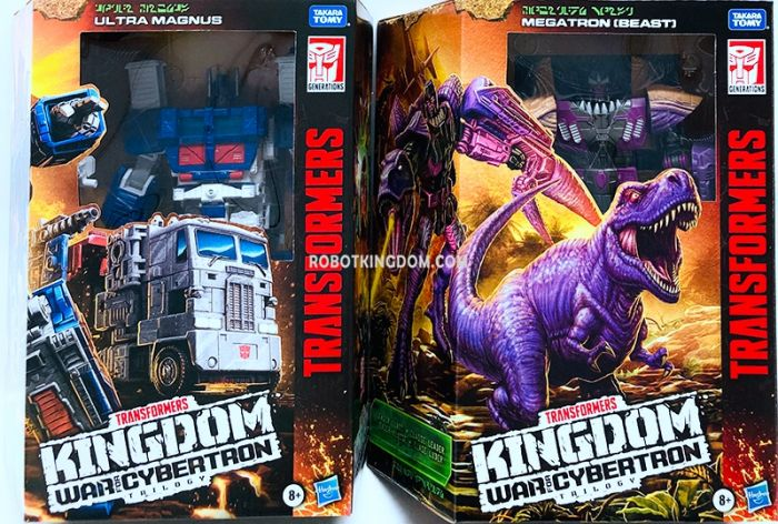 Transformers Generations Kingdom Leader Wave 2 Case of 2. (TREX MEGATRON and ULTRA MAGNUS EARTH). Available Now!