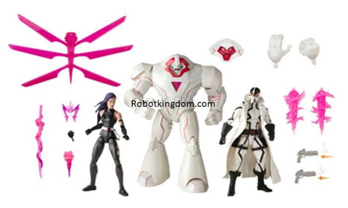 Exclusive X-Men Marvel Legends 20th Anniversary Psylocke, Nimrod and Fantomex 3 Pack. Start Shipping NOW!
