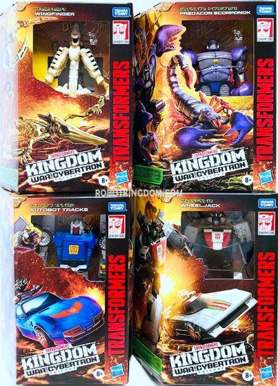Transformers Generations Kingdom Deluxe Wave 3 Set of 4 (SCORPONOK, WHEELJACK, WINGFINGER, TRACKS). Preorder. Start Shipping on 1st September 2021.