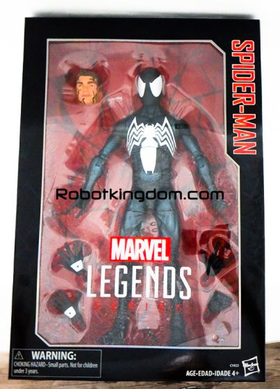 "Target Exclusive Marvel Legends Symbiote 12"" Spider Man. Available Now!"