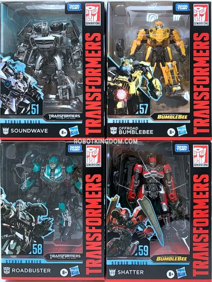 Hasbro Transformers Studio Series DELUXE 2020 Wave 2 Set of 4 (SHATTER JET, ROADBUSTER, TF3 SOUNDWAVE, JEEP BB). Available Now!