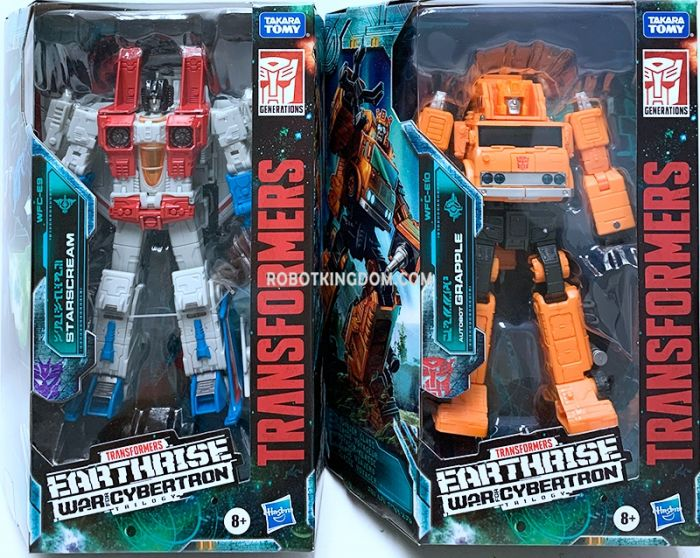 Transformers Generations Earthrise Voyager set of 3 (GRAPPLE, STARSCREAM). Available Now!