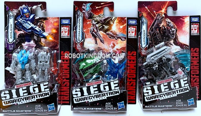 Generations 2019 Siege of cybertron Battle Masters Wave 2 set of 12 (LIONIZER, PTERAXADON, AIMLESS). Available Now!