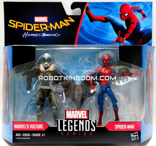 Marvel Legends 2017 Spiderman 3.75 inch Legend Movie wave 1 Vulture and Spiderman. Available Now!