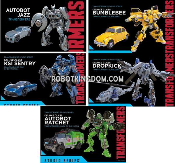 Hasbro Transformers Studio Series DELUXE Wave 4 Case of 8 (JAZZ, BUMBLEBEE, RATCHET, DROPKICK, KSI SENTRY). Available Now!