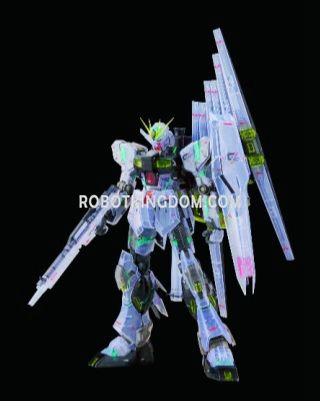 Hong Kong Gundam Dock III MG 1/100 νGUNDAM Ver. Ka [Metalic Frame & Clear Color]. Preorder. Available in late August.