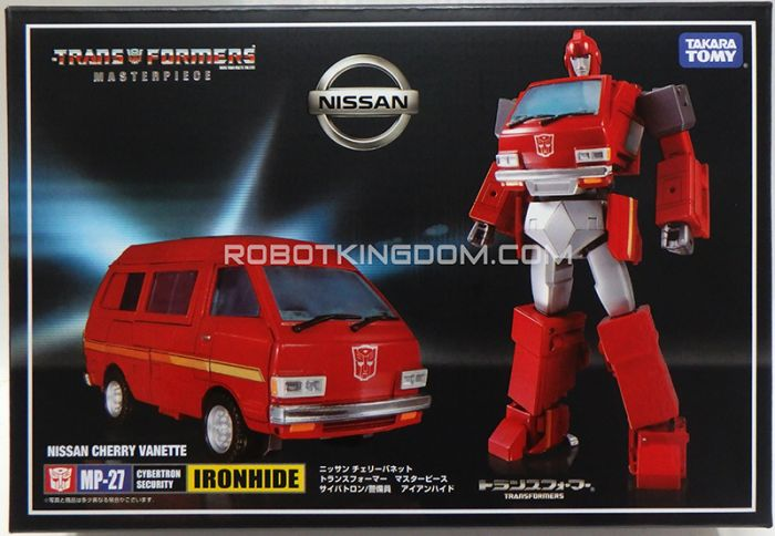 Takara Transformers Masterpiece MP-27 Ironhide (Rerun). No coin, with free premium diecast weapon.  Available Now!