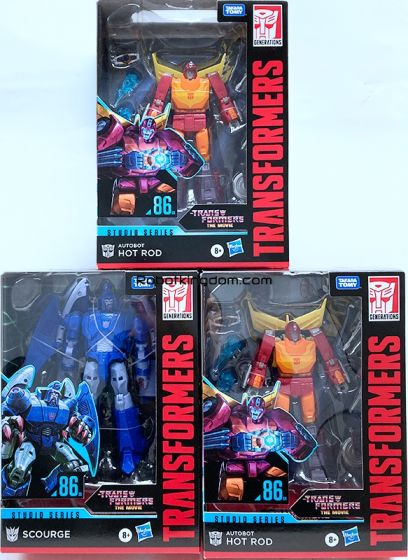 TRANSFORMERS Generations STUDIO SERIES VOYAGER 2020 Wave 4 Set of 3. (HOT ROD, SCOURGE). Available Now!