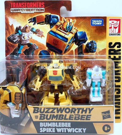 Transformers Buzzworthy Bumblebee Generations War for Cybertron Core Scale 2 Pack (Bumblebee, Spike Witwicky). Available Now!