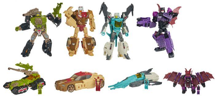 Transformers Generations DELUXE HEADMASTERS RETRO set of 4 (HARDHEAD,CHROMEDOME, MINDWIPE, BRAINSTORM). Available Now!