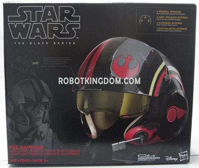 Star Wars: Episode VIII The Last Jedi Black Series Poe Dameron Helmet. Available Now!