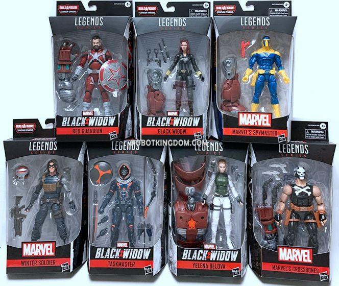 "Marvel Legends 6"" Black Widow Assortment Case of 8 (Black Widow, Taskmaster, Yelena Bolova, Winter Soldier, Spy Master, Crossbones, Red Guardian). Available Now!"