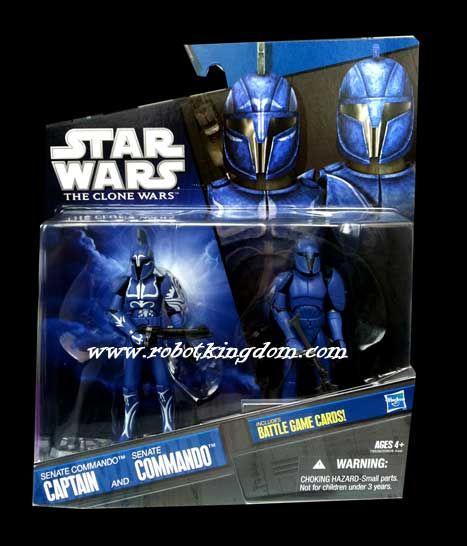 Hasbro Star Wars 2010 Exclusive Two-Pack - Senate Commando Captain & Senate Commando.