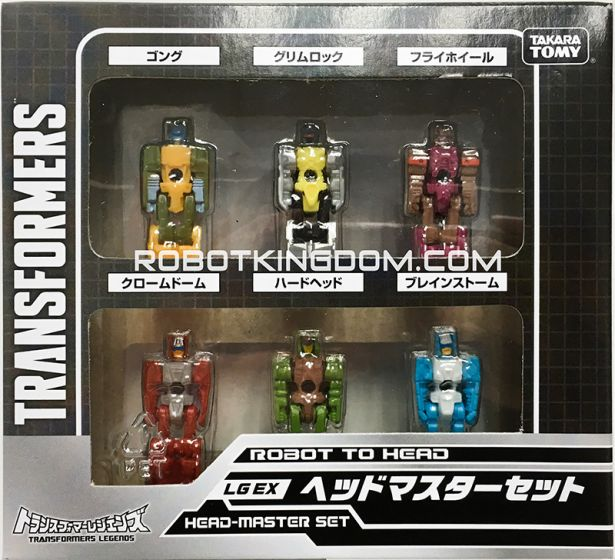Transformers Legends Series LG-EX Head Master Set of 6. Available Now!