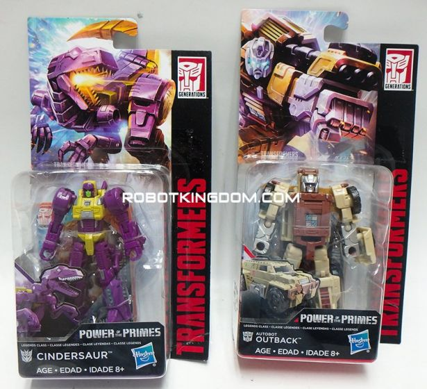 Generations 2018 Power of the Prime LEGENDS Wave 3 set of 2 (AUTOBOT OUTBACK, CINDERSAUR). Available Now!