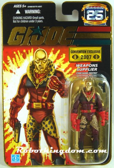 SDCC 2007 G.I. Joe 25th Anniversary Exclusive Gold Destro Pimp Daddy MOC. Price reduce!