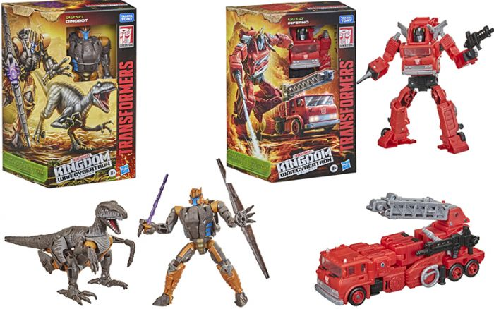 Transformers Generations Kingdom Voyager Wave 2 Case of 3 (DINOBOT and INFERNO). Preorder. Available in May 2021.