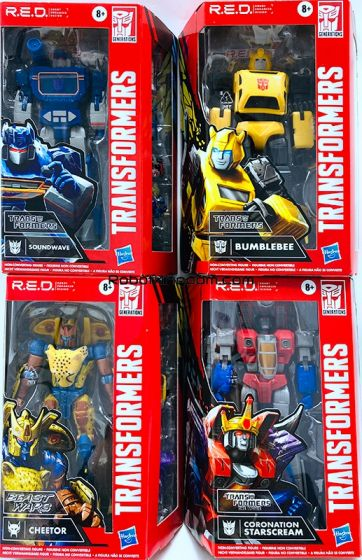 Transformers Generations MOVIE ACCURATE Wave 2 case of 6.  (G1 SOUNDWAVE,  BW CHEETOR,  G1 STARSCREAM and G1 BUMBLEBEE). Available Now!